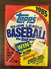 1985 Topps Baseball Unopened Wax Pack Roger Clemens Kirby Puckett Rookie Cards