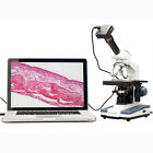 2000X Double Layer Mechanical Stage LED Compound Microscope +10MP Digital Camera