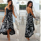 5803 Women Black Cocktail Party Summer Beach Club Long Sexy Dresses S/M/L/XL