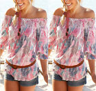 NEW Womens Blouse New Chiffon Long Sleeve Ladies Top T shirt Loose Short Tops TY