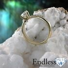 14k Yellow Gold Promise Ring 0.93 TCW Real Diamond VS-SI/D-F Size 7.5 Enhanced