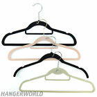 Random clearance flocked garment coat hangers, mixed colours & sizes Hangerworld