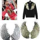 Embroidered iron on patches for clothes Wings design sequins DIY Motif Applique`