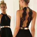 Women Sexy Fashion Sleeveless backless Casual Party Evening Cocktail Mini Dress