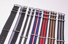 18mm 20mm 22mm 24mm same type Nylon Watch Straps Wristwatch Band 7color