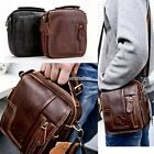 Fashion Men Genuine Leather Briefcase Waist Bag Messenger Shoulder Bag N98B