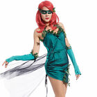 Women Lethal Beauty Poison Ivy Batman Green Ivy Trim Carnival Fancy Dress Outfit