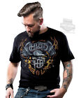 Harley-Davidson Mens Traditional Eagle with Flames Black Short Sleeve T-Shirt