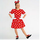 IN STOCK Red Dress white Spot Minnie Character Dance Costume Child Medium