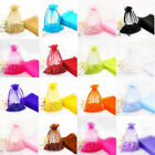 30/100 Plain Organza Drawstring Gift Jewelry Bags Pouches For Wedding Party
