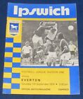 IPSWICH TOWN HOME VARIOUS PROGRAMMES 1974-1975