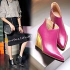 Vogue Women's Leather Wedge High Heels Ankle Boots Booties Party Pointed Shoes