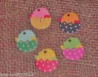10/25/50 ASSORTED COLOUR WHITE WOOD CHICKS IN SHELLS BUTTONS# EASTER CRAFT
