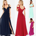 Women's Celebrity Chiffon Long Maxi Beach Dress Ladies Evening Party Cocktail