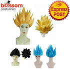 KA205 Dragon Ball Cosplay Costume Hair Wig Gold or Black  Z Goku Japan Anime