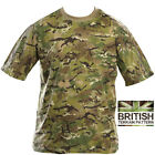 Mens Army Combat Military British US BTP Camo T-shirt Camouflage Surplus New