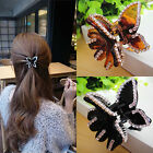 New Women Butterfly Crystal Rhinestone Claw Hairpin Hair Clamp Accessory Clip