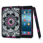 Shockproof Silicone Rubber Hard Heavy Duty Case Cover For Apple IPad Mini 1/2/3