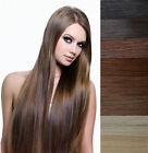 "15""-36"" Remy Human Hair Extensions Sewed in Weft soft Straight Width 59"",100g"