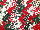 COTTON FABRIC PATCHWORK SQUARES PIECES CHARM PACK 2 4 5 INCH ~ CHRISTMAS