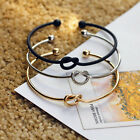 Fashion Style Women Gold Silver Black Elegant Bangle Cuff Bracelet Jewelry Gift