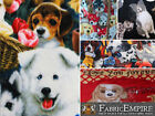 "Polar Fleece Printed Fabric DOG 60"" Wide Sold By the Yard"