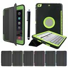 Hybrid+FLAP Heavy Duty Shockproof Stand FLIP Smart Case Cover iPad Air Mini Pro
