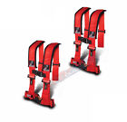 Dragonfire DFR Safety 4 Point 3 PAIR Harness H Style RZR 800 / S / 900XP RED