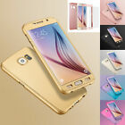 360° Full Body Slim Case Cover Tempered Glass Screen Protector fr iPhone Samsung