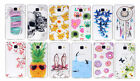 12pcs/Lot New Clear Printed Soft Pudding TPU Rubber Case Cover For Cele Phones