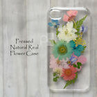 ZLF Hand Made Disegno Pressed Real Dry Flower Bling Floral Hard Cover Skin Case
