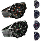 Cool Fashion Men's Racer Military Pilot Aviator Army Silicone Sports Watch