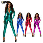 Snakeskin Jumpsuit Women Outfit BodySuit Clubwear Fancy Dress Lingerie 4 Color