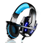 Gaming Headset Headphone 3.5mm Stereo Jack with Mic LED Light for PS4 PC Tablet