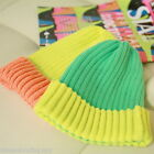 FL Woman Hats Harajuku Candy Colors Pointed Beanies Warm Fluorescence Cap Knited