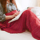 Warm and Soft Mermaid Tail Blanket Super Soft Hand Knitting Wool  for Kids Adult