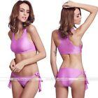 Womens BeachPush-up Bandage Sport Swimsuit Bra Bathing Bikini Swimwear Purple