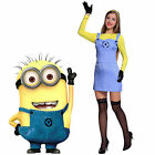 Ladies Despicable Me 2 Minions Fancy Dress Set Carnival Cosplay Costume w/Goggle