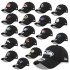 NEW ERA CAP 39THIRTY NFL BLACK EDT. SEAHAWKS PATRIOTS RAIDERS BEARS COWBOYS UVM