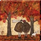 Sam Toft Just Beginning To See The Light Canvas Print 40x40x3.8cm