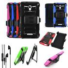 For Alcatel Onetouch Fierce 4 LTE Phone Case Holster Cover Headset Earbud w/Mic