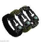 BD 5 in 1 Compass Flint Escape Survival Whistle Bracelet Hand Rope Outdoor Camp