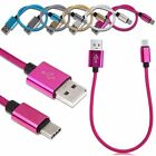 Aluminum Braided Heavy Duty USB 3.1 Type-C Data Sync Charger Charging Cable Cord