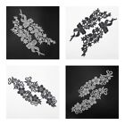 Lace Trim Applique Flower Leaf Bow Sewing Craft Wedding Dress DIY Black/White