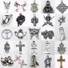 Vintage Tibetan Silver Bronze Animal Cross Carved Charm Pendant Bead Finding DIY