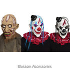 A929 Horror Clown Zombie Halloween Scary Walking Dead Costume Latex Mask w/ Hair