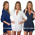 Womens Lady Loose Long Sleeve Blouse Shirt Tops Casual