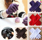 New Women Lady Stretchy Satin Gloves Evening Party Wedding Formal Prom Gloves