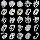 WHOLESALE JEWELLERY SOLID 925 STERLING SILVER JEWELRY FASHION RING XMAS GIFTS