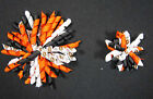 "3"" or 5"" BlackOrangeWhite Cincinnati Bengals Korker Hair Bow (Handmade) $4.0 USD on eBay"